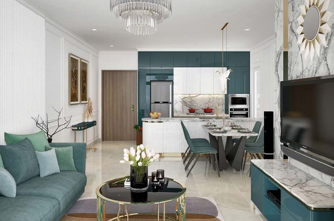 Phong cách nội thất hiện đại là ý tưởng tiết kiệm diện tích cho căn hộ 45m2